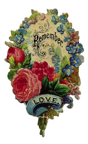 """Remember Love"" Victorian Scrap."