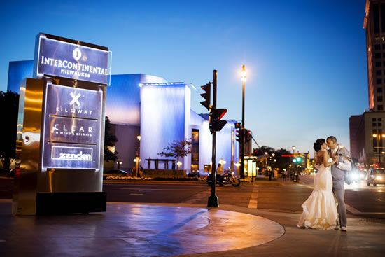 Make sure to check out some of downtown Milwaukee's hotels for your wedding venue. The Hilton, The InterContinental and The Pfister are some great choices