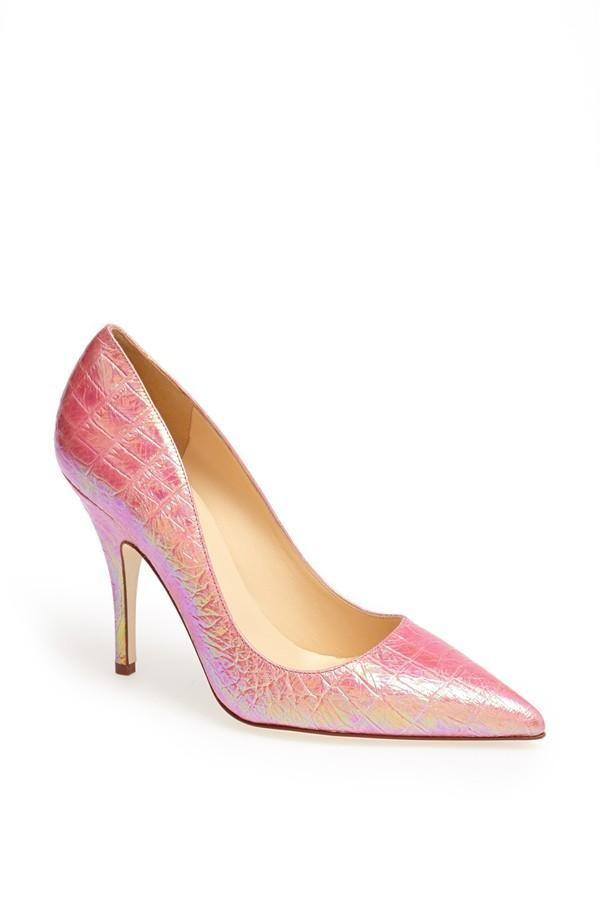 Fun! Pink hologram print pump by Kate Spade.
