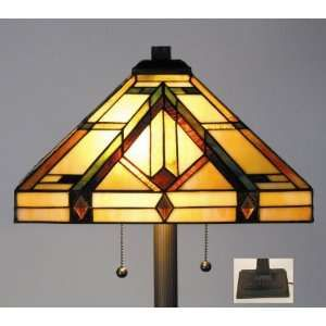 Estilo Tiffany Stained Glass Floor Lamp