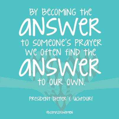 I hope I'm the answer to his prayer
