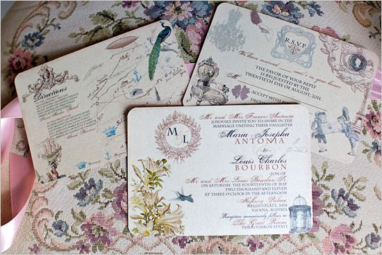 Vintage Wedding Invitation Sample - Whimsical French Baroque - Maria Collection - featured on WedLuxe.com
