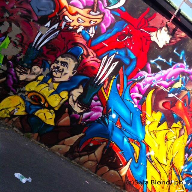 Murales in Bovisa, Milano.