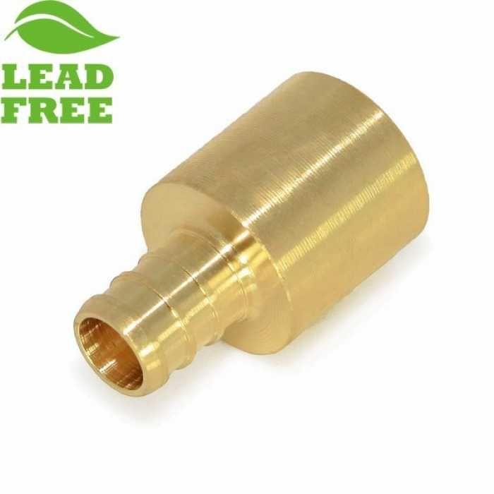 "Everhot PXLF7207 3/8"" PEX x 1/2"" Lead-Free Copper Fitting Adapter"