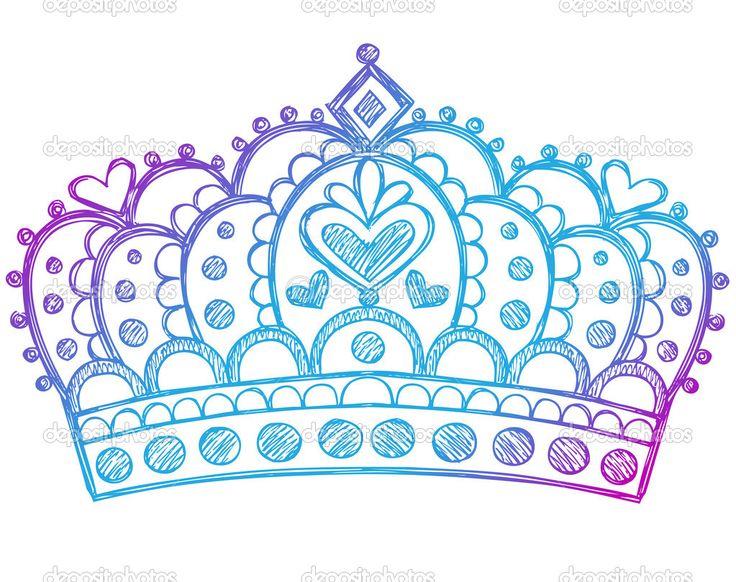 Рисованной Sketchy Корона тиара роялти принцессы - Векторная картинка: 16204817