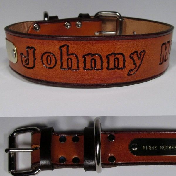 how to put a name on a dog collar