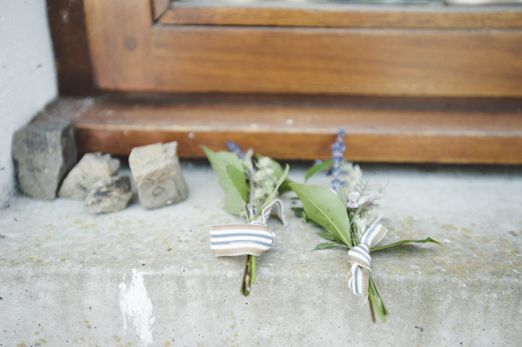homemade buttonholes, which had been made from everything and anything! They were all totally different to one another, but were all tied wi...