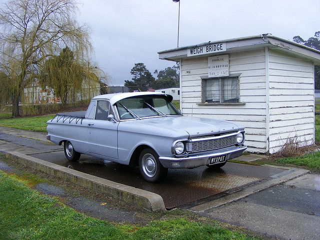 My 1965 Ford XP Ute on the Beaufort Weighbridge closeup by bparo2003, via Flickr