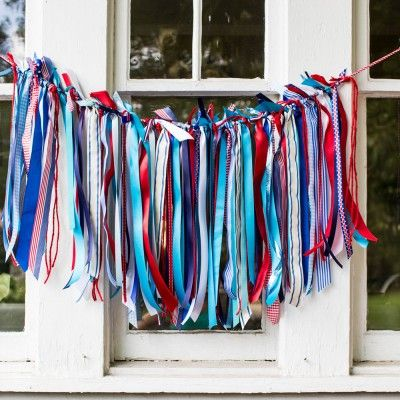 Fourth of July Decorations: Ribbon Bunting