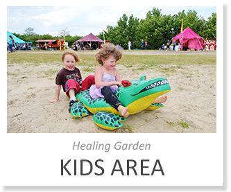 KIDS AREA @ Healing Garden. Ook voor kinderen is er tijdens ons midzomerfestival genoeg te beleven! We hebben een speciaal programma voor onze jonge gasten. En vergeet je zwemspullen niet! In het meer (het Nuldernauw aan het Erkemederstrand) kun je heerlijk zwemmen als het zonnetje doorbreekt! Voor het volledige programma zie: www.healing-garden.nl/programma/kids.