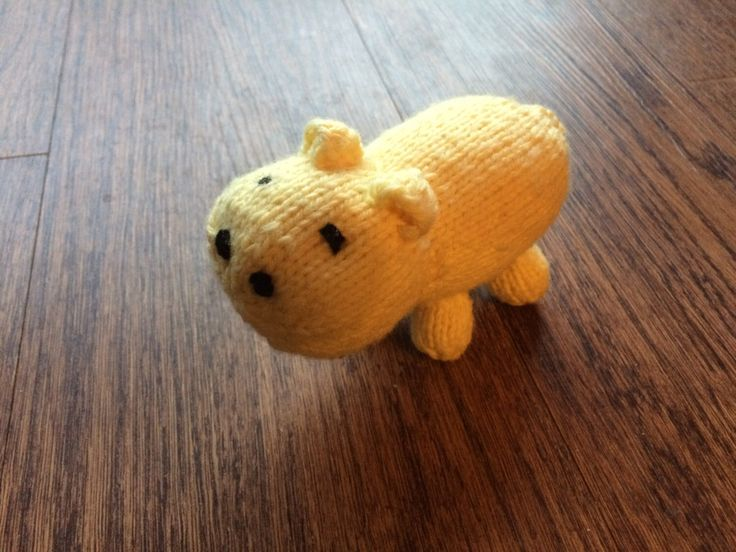 Happy Hippo (yellow) by FizmopsFuzzies on Etsy https://www.etsy.com/ca/listing/492133509/happy-hippo-yellow