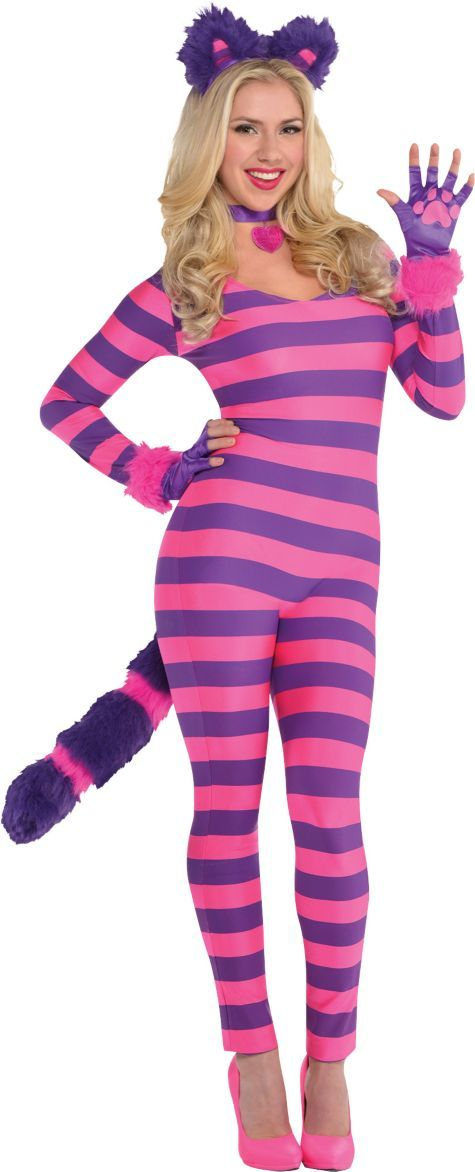 Adult Lady Cheshire Kitty Cat Costume - Party City