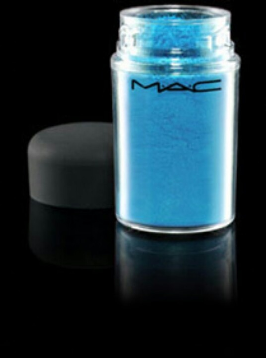 MAC pigment eye shadow in Hi-Def Cyan. So awesome with Chrome and Acid Orange in the Summer. I love MAC pigment eye shadows because they are very true to color. What you see in the bottle is what you get!!