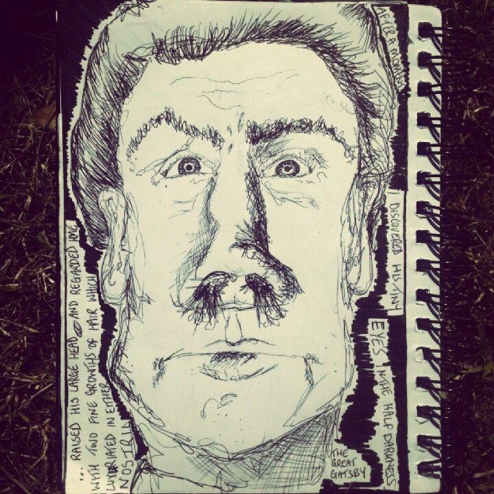 #MrWolfshiem #thegreatgatsby #nosehair #pen #sketch #doodle #illustration