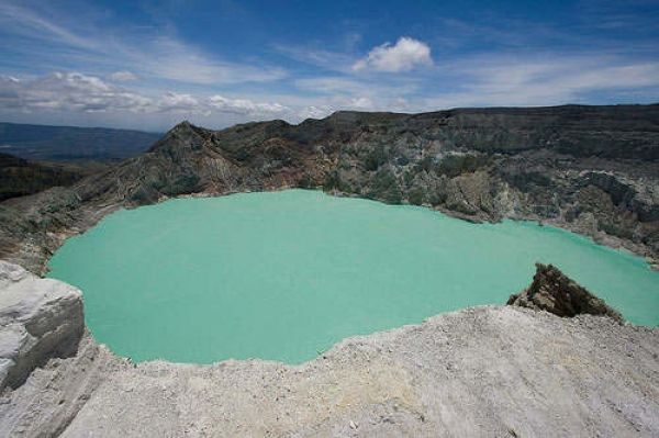 Ijen Crater on Ijen Mount, Banyuwangi, East Java