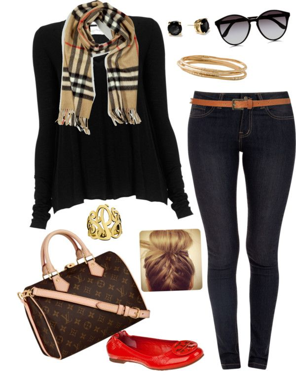 """Burberry scarf "" by abbywidger ❤ liked on Polyvore"