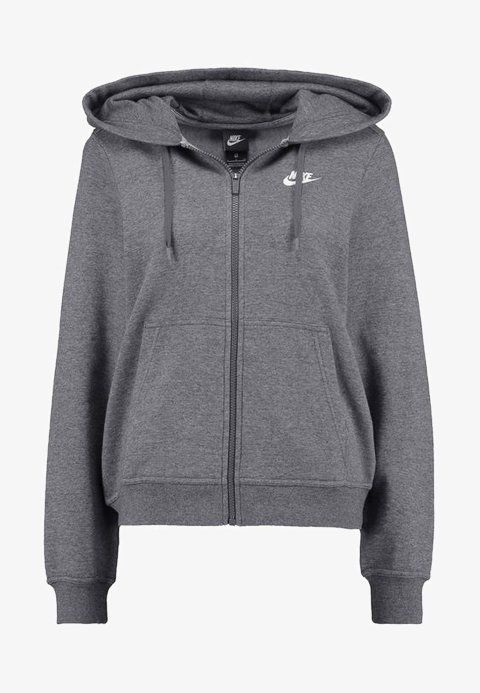 3ea4c05ecf3a5 Nike Sportswear HOODIE - Sweatjacke - charcoal heather dark grey white -  Zalando.