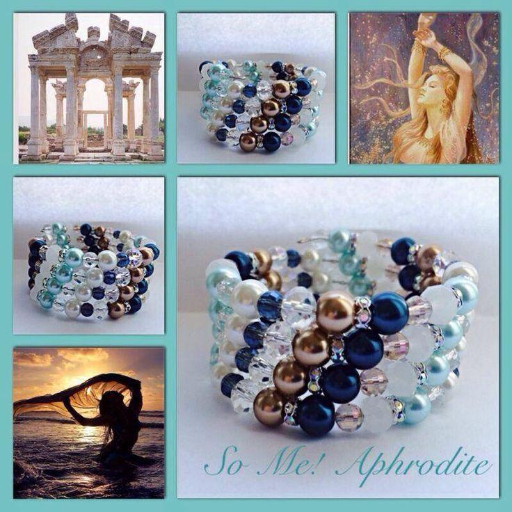Aphrodite! Moderne, mooie zelfgemaakte armbanden, glas parels, glas kralen , Memory wire, http://some-accessoires.nl