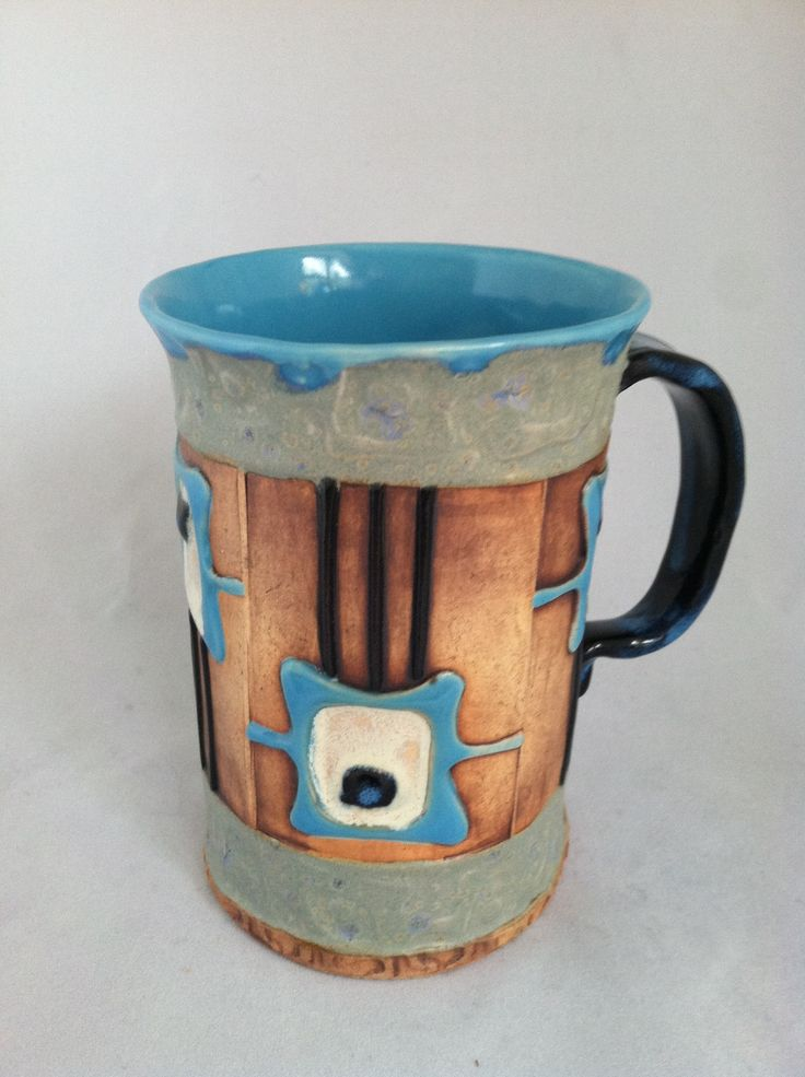 349 best clay mugs cups images on pinterest dish sets for Pottery cup ideas