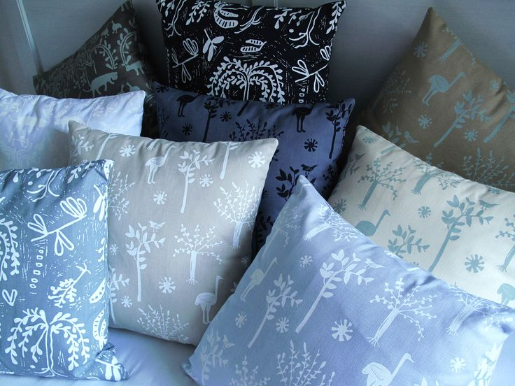 cool coloured cushions