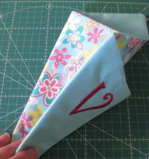Vicki's Fabric Creations: Folded Fabric Scissor Holder Tutorial