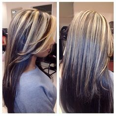 silver highlights in brown hair - Google Search