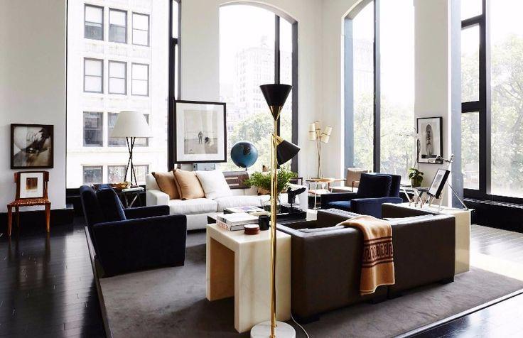 7 Striking Modern Sofas In Interiors By Dan Fink Studio   White Sofa. Living Room Ideas. #modernsofas #whitesofa #interiordesign Read more: http://modernsofas.eu/2016/12/15/striking-modern-sofas-interiors-dan-fink-studio/