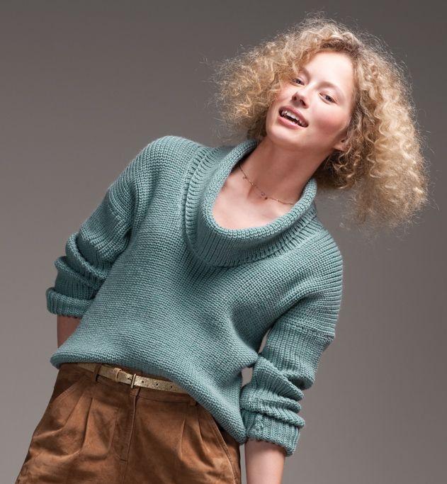 Модель Краткое капот шею свитер женщин - женщины модели - Phildar