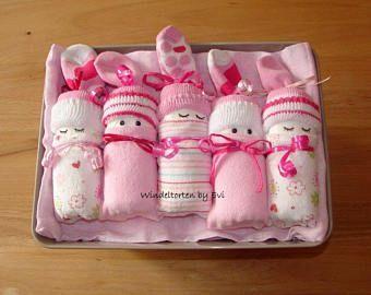 Babywindeln in der Box, Mädchen, Babygeschenk, Geburtstaufe, Win