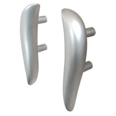 "Paul Mason cabinet handles from the Swim series. Left and right handed and a ""straight"" model, the PM18. PDF brochures are available on the main category page for this item."