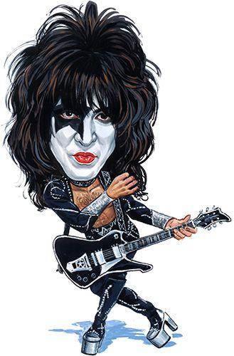 Paul Stanley of Kiss ....art by ExaggerArt http://exagger-art.artistwebsites.com/