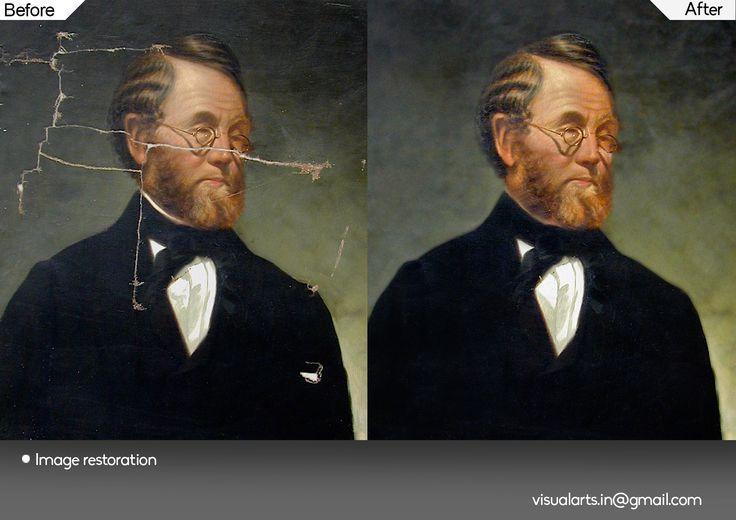 Image Restoration on vintage images or torn photographs...