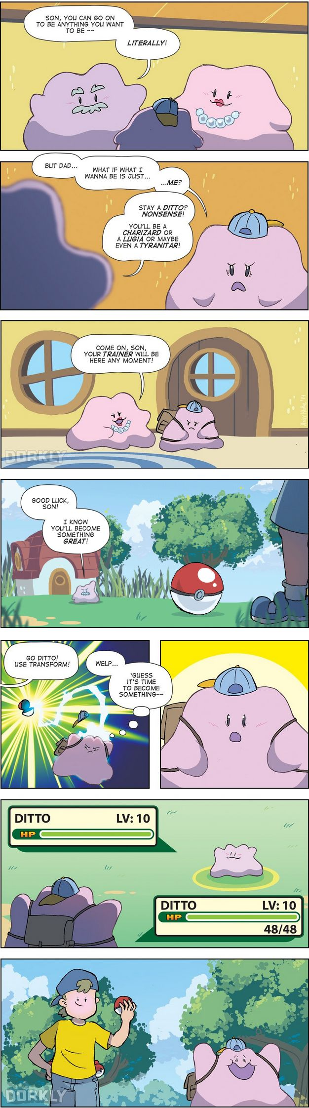 Ditto just wants to be himself