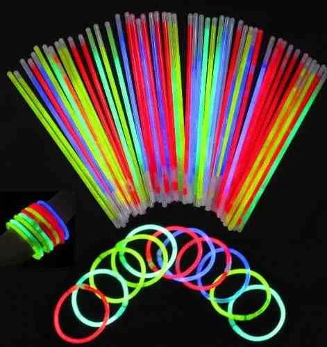 tubo 100 unidades pulseiras neon festa aniversário casamento