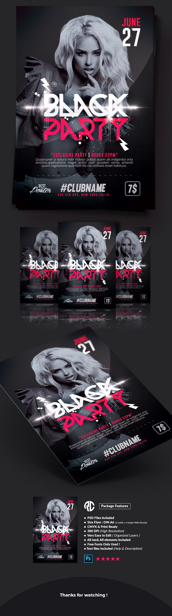 ideas about creative flyers summer poster edit black party flyer templates creative market flyer templates