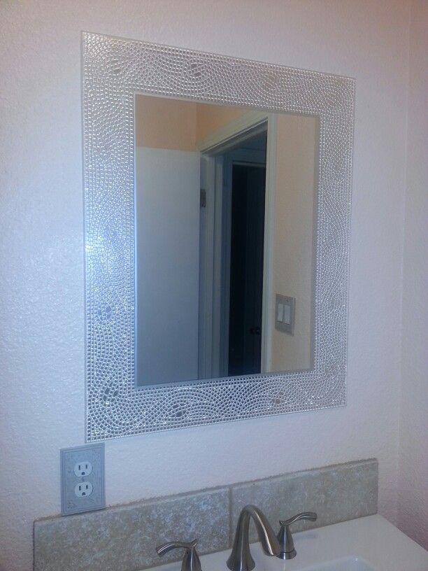 Bathroom Mirror Bling Bling