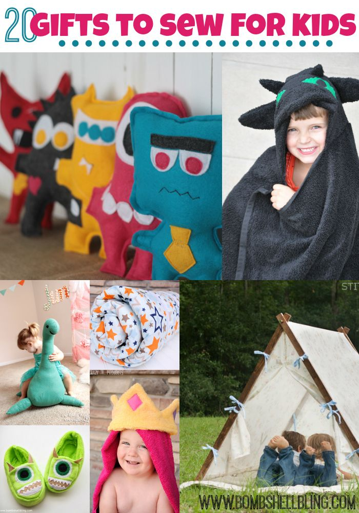 20 ideas for handmade gifts to sew for kids this holiday season or all year long!