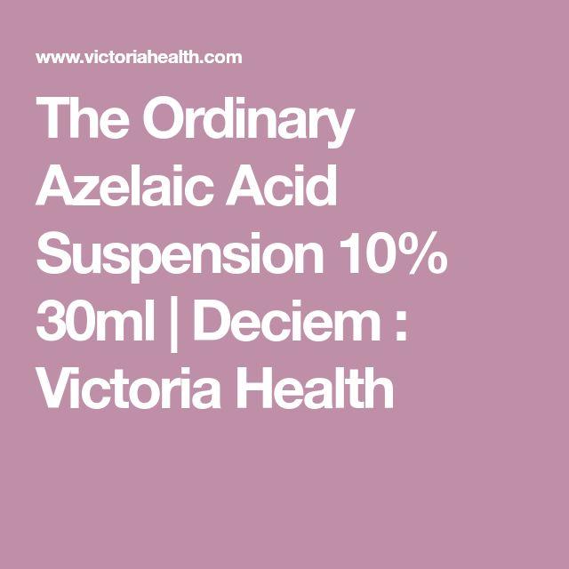 The Ordinary Azelaic Acid Suspension 10% 30ml | Deciem : Victoria Health