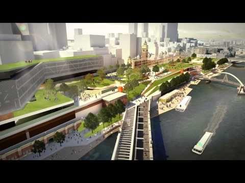 Redesigning Flinders Street Station | Melbourne green space
