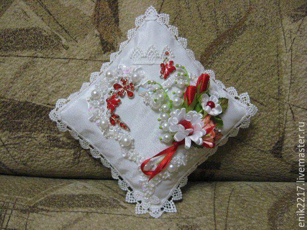 Купить Подушечка для обручальных колец - свадебные аксессуары, подушечки для колец, свадебные подушечки, подушечка для загса