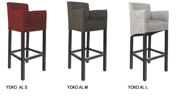 Tabouret de bar YOKO AL - Tabouret de bar rembourré avec multiples possibilités d'individualisation
