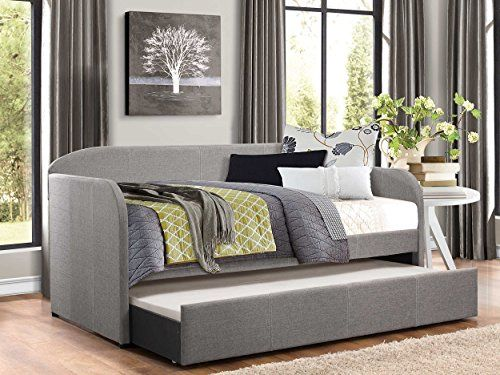 Homelegance Modern Design Daybed with Trundle Fully Upholstered Polyester,  Twin, Grey | Furniture | Pinterest | Daybed and Modern - Homelegance Modern Design Daybed With Trundle Fully Upholstered
