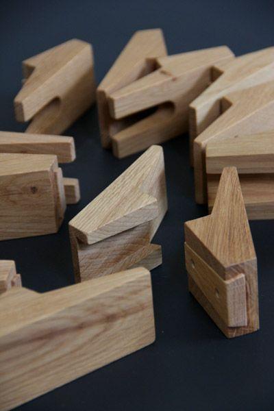 wooden coat hooks - furniture by Tandem, Devon