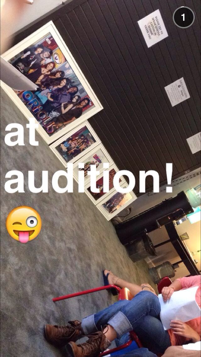 THIS IS FROM MADDIE'S SNAPCHAT!!! MADDIE AUDITION FOR DAN SCHNEIDER!!! OMG!!! SO EXCITED FOR HER!!!