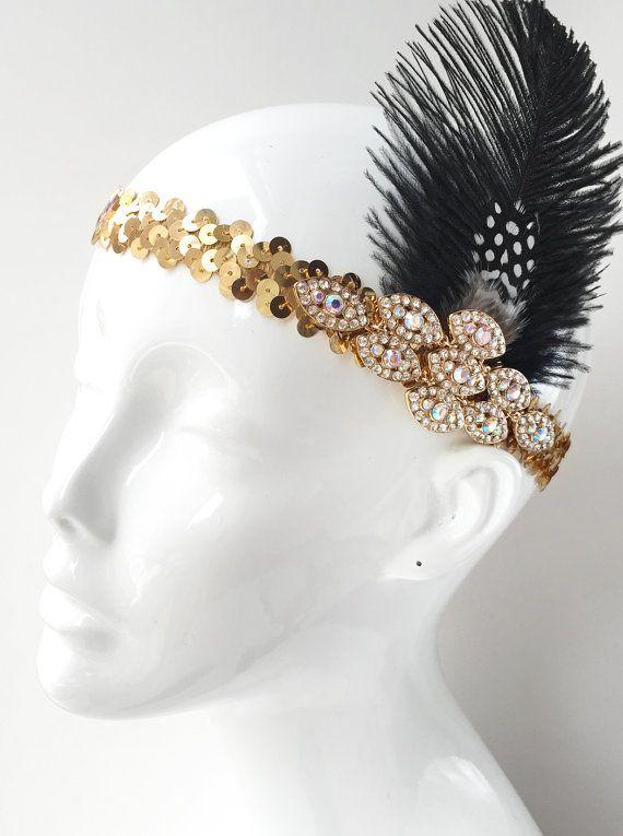 Flapper Headband Gatsby Headpiece 1920s Headpiece by AmyOHandmade