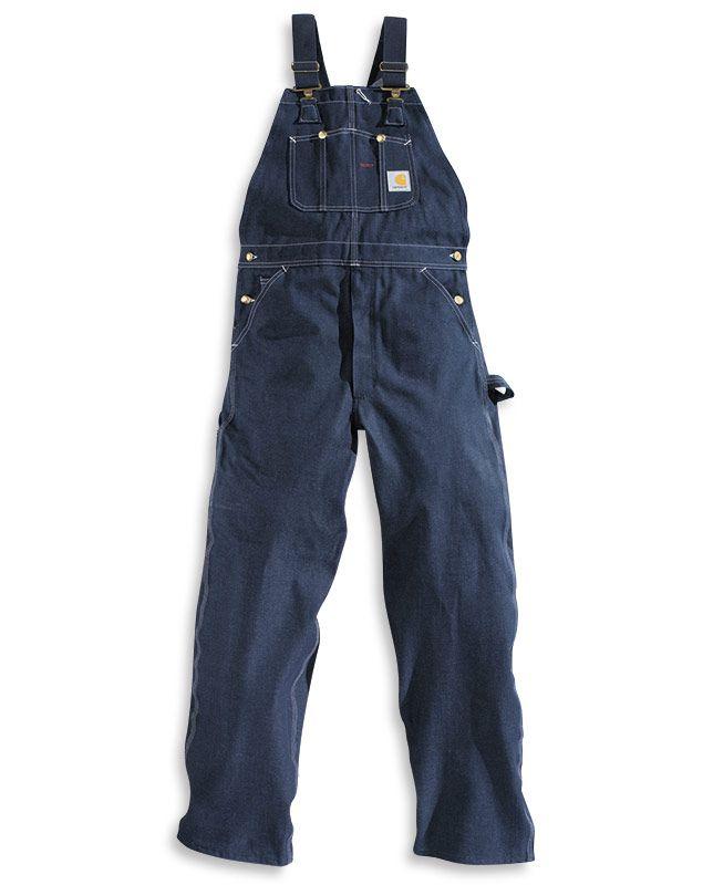 Men's Carhartt Bib Unlined Denim Overalls - Bibs & Coveralls - Workwear