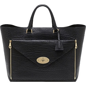Mulberry - Black Envelop Tote
