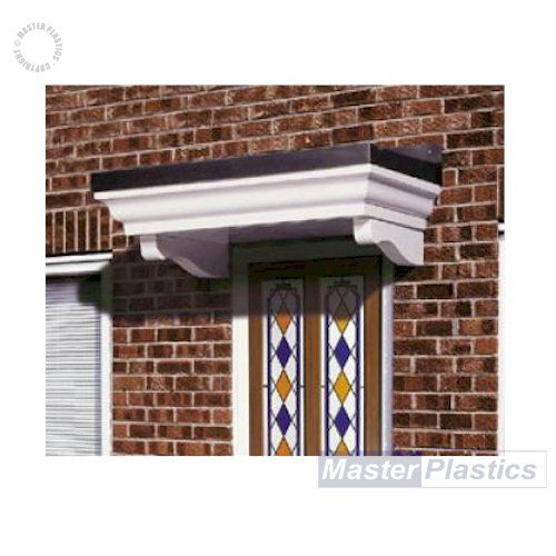 The Warwick - A flat topped lead look canopy with smooth white fascia incorporating period detailing  sc 1 st  Pinterest & 33 best Door Canopies images on Pinterest | Canopies Door canopy ...
