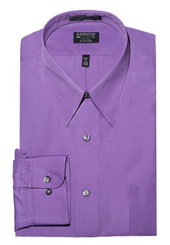 Fitted Arrow Purple Dress Shirt, Violet
