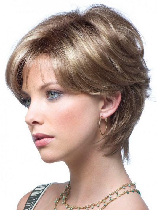 Короткие прически для круглого лица и тонких волос